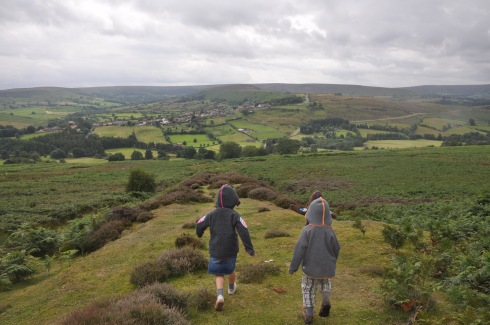 view from top of moor down to Castleton