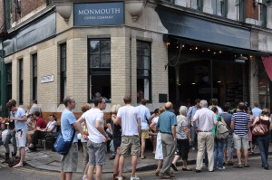 queue outside Monmouth Coffee House