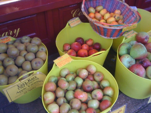 apples outside honey shop